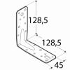 Úhelník s prolisem  45x126x126x2,5