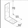 Úhelník stavitelný  70x55x30x2 Zn