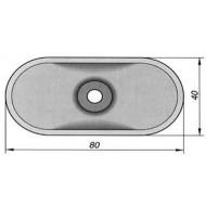 Podložka izolační PI 40 oválná ocelová