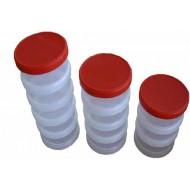 Úložný box  4 dílný  (plastový, šroubovací)