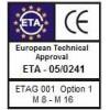 Kotva průvlaková  KDK  M 8x 85/20  (ETA.1)