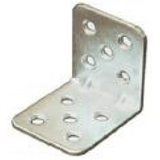 Úhelník nábytkový  ÚP5  45x45x2,5x40  zinek bílý